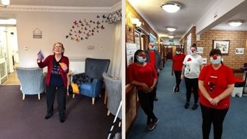Red Nose Day fun at Coventry care home