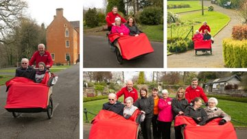 Dunfermline care home Residents test out new wheels at Local Park