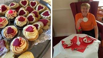 Valentine's Day afternoon tea at Stoke-on-Trent care home