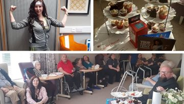 Boston care home host bake sale and raffle for Comic Relief