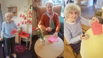 Love is all around as Tameside care home celebrates Valentine's Day
