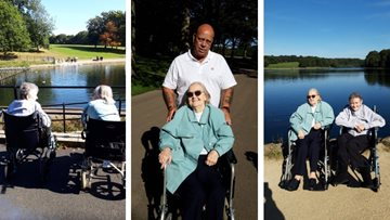 Armley care home Residents enjoy September sunshine at Roundhay Park