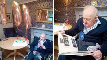 Resident celebrates big 100th birthday at Sheffield care home