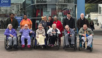 Milliner House Residents soak up the sea air in Southend