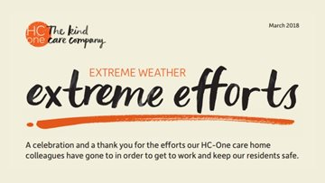 Extreme weather with extreme efforts