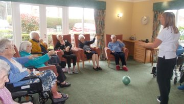 Consett care home Residents practice Tai Chi