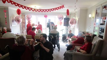 Jarrow care home celebrates Valentine's Day