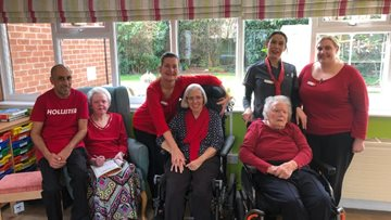 Comic Relief at Derby care home