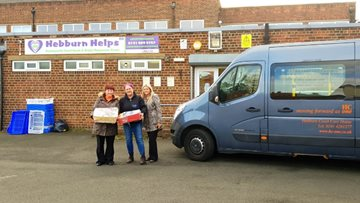 Residents donate to local food bank, Hebburn Helps