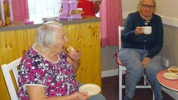 Help yourself to Grandma's Kitchen cakes at Honita care home