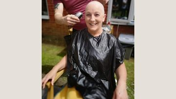 Aberdare care home worker braves the shave to raise £800 for garden project