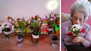 Flower arranging brightens up the day at Colton care home