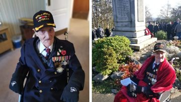 Swansea care home marks Remembrance Day with beautiful local service