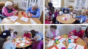 Arts and crafts at Ayr care home