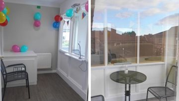 Leeds care home opens up its very own visitor pod