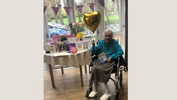 107th birthday celebrations at Ilkeston care home