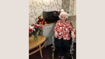 Birthday celebrations at Larchwood care home