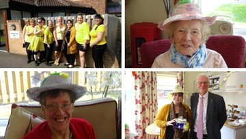 Easter fundraising is a success as Nic Dakin MP visits Scunthorpe care home