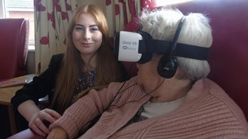 Residents at Dovedale Court experience virtual reality