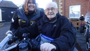 Motorbike enthusiast's dream comes true at Spennymoor care home