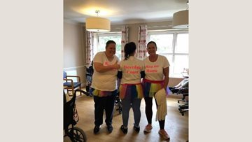 Wednesbury care home Colleagues praised for charity effort