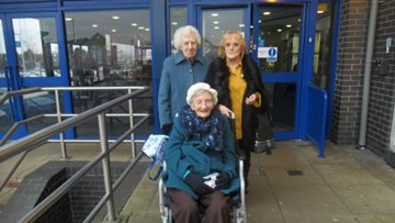 Cradley Heath care home Residents visit local cinema