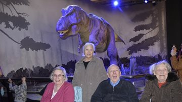 Hayes care home Residents visit Natural History Museum