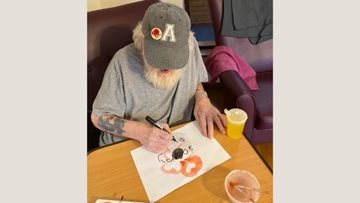 Stoke care home marks Remembrance Day with arts and crafts