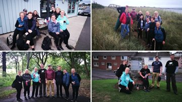 Local care homes walk 60 miles to raise money for their Resident's comfort funds