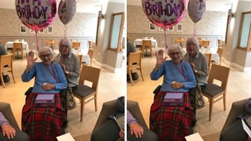 Resident celebrates a very special birthday at Low Fell care home