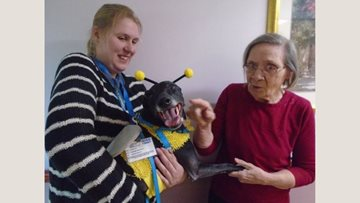 Spring 'Bee' visits Residents in Whittlesey