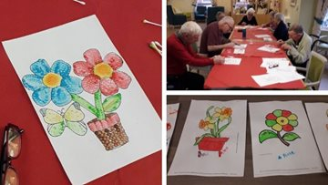 Aboriginal art class is a success at Heaton Moor care home