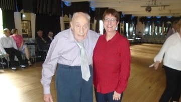 Nottingham Care Home Resident put on his dancing shoes