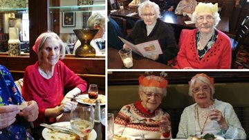 The Beeches Residents get into the Christmas spirit with festive feast
