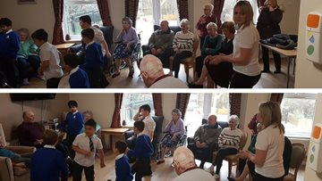 Old meets young at Dunstable care home