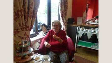 Woodchurch care home Residents enjoy afternoon tea
