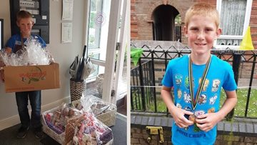 10-year-old Ty's sponsored cycle raises money for Newcastle care home