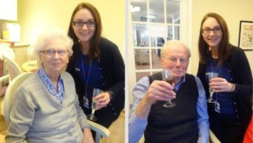 Residents sample fine wine and cheese at Dunfermline care home