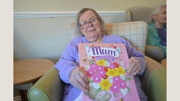 Mothers day celebrations at Hayes care home