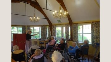 Show goes on at Market Lavington care home