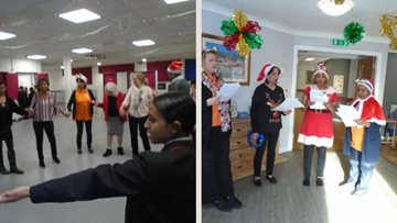 Christmas cheer for all to hear at London care home