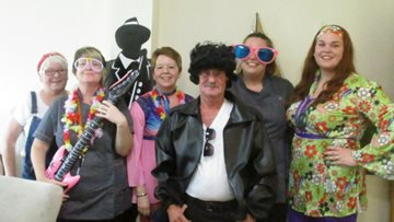 Skewen Care Home welcome special visitor on World Music Day