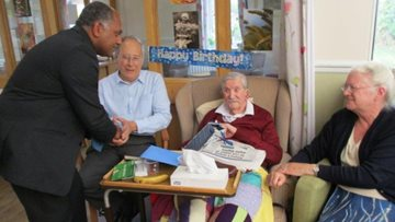 Resident celebrates 103rd birthday at Chelmsford care home