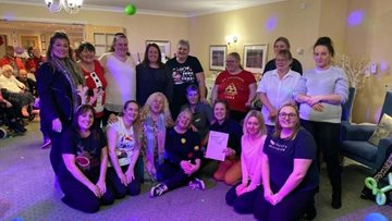 Festive fun at Consett care home