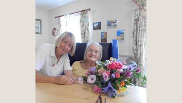 Green fingered Residents enjoy flower fun at Coppice Court