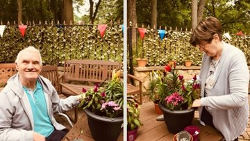 Durham care home Residents prepare garden for the summer