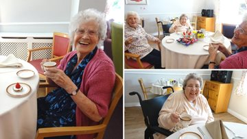 Residents crack out the posh china for Afternoon Tea