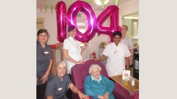 104th birthday celebrations at Manchester care home