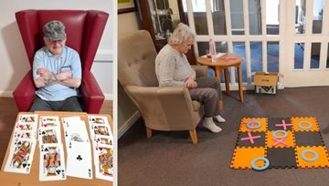 Ayr care home Residents enjoy socially distanced games afternoon