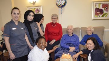 Brian's birthday bash at Hayes care home
